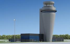 Wieża kontroli lotów w Pyrzowicach