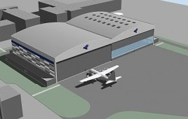 Hangar dla samolotów transportowych i pasażerskich wraz z płytą przedhangarową