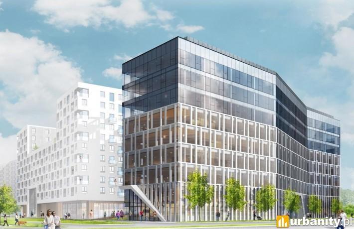 Projekt biurowca, który stanie przy ulicy Kaczorowskiego w Białymstoku