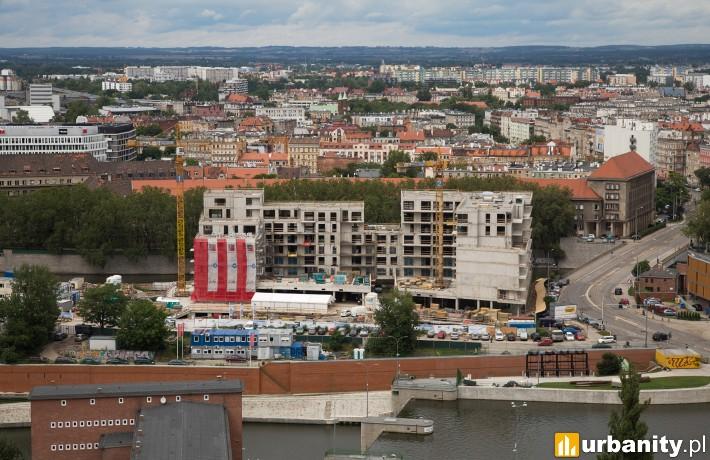 Postęp prac na budowie Bulwarów Książęcych we Wrocławiu