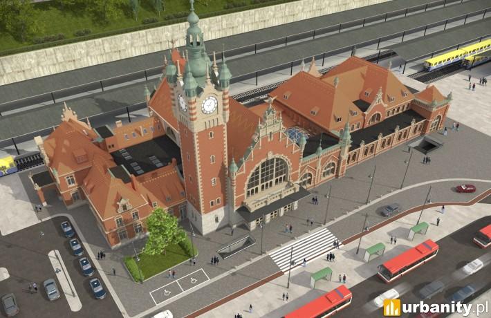 Wizualizacja dworca Gdańsk Główny