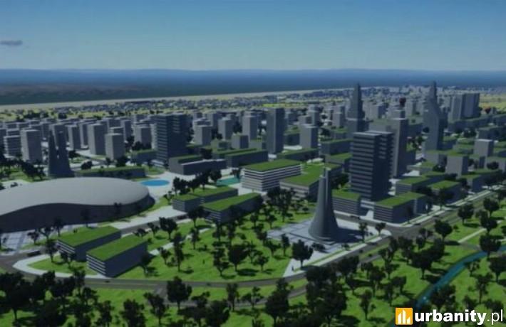 Projekt nowej multifunkcyjnej dzielnicy w Krakowie (fot. Urząd Miasta Krakowa)