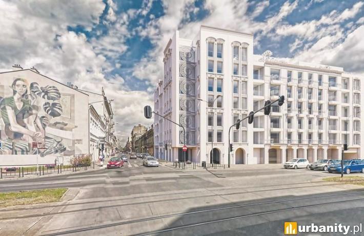 Biała Kamienica przy Zachodniej w Łodzi - wizualizacja