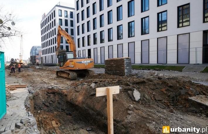 Tak powstaje podziemna ulica w Nowym Centrum Łodzi (fot. Sebastian Glapiński / UMŁ)
