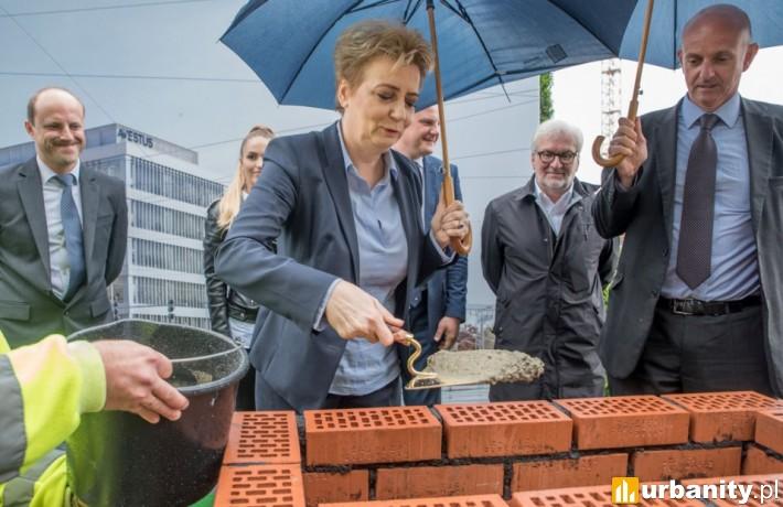 Wmurowanie kamienia węgielnego pod inwestycję Imagine w Łodzi