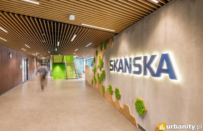 Biuro firmy Skanska w biurowcu Spark
