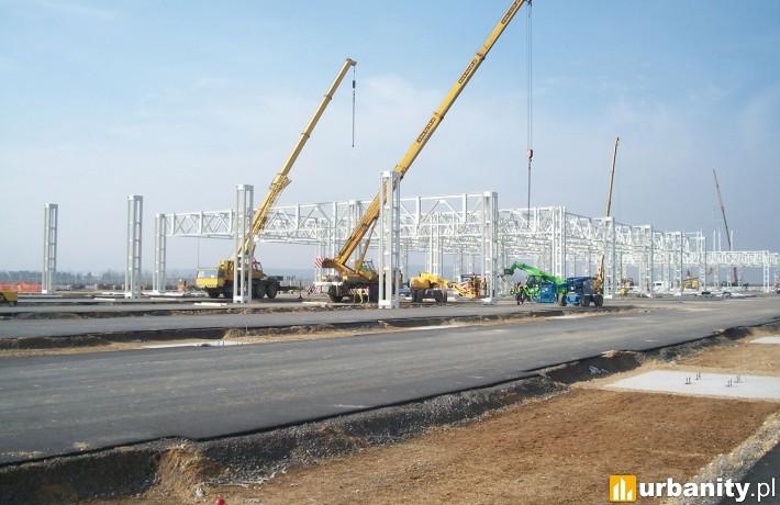Postęp prac na budowie fabryki Mercedesa w Jaworze