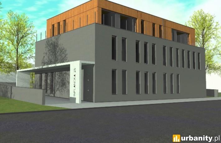 Wizualizacja budynku Inflancka 25 w Poznaniu