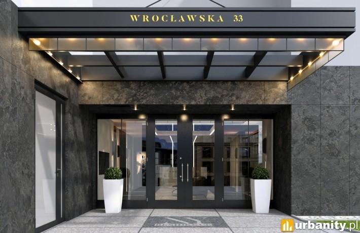 Wejście główne do NY Residence w Krakowie