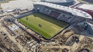 Tak powstaje nowy stadion przy alei Unii w Łodzi (fot. Stefan Brajter/UMŁ)