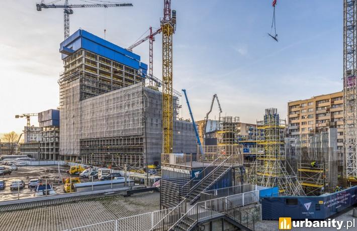 Tak obecnie wygląda budowa kompleksu Varso Place