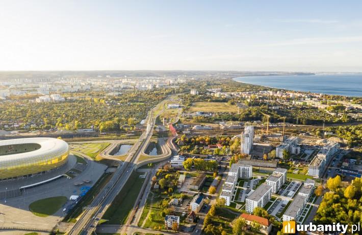 Bursztynowa Zatoka w Gdańsku - wizualizacja