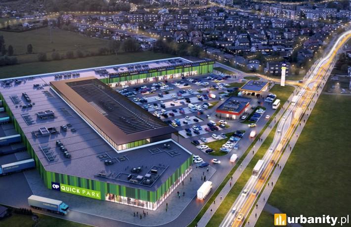 Projekt parku handlowego Quick Park w Kępnie