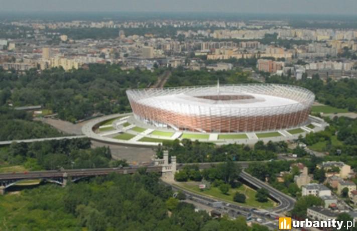 Wizualizacja Stadionu Narodowego w Warszawie