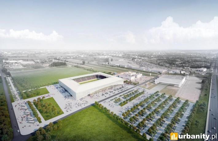 Nowe stadion piłkarski w Opolu - wizualizacja
