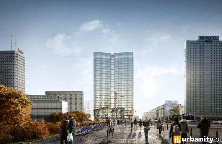 Projekt inwestycji Widok Towers w Warszawie