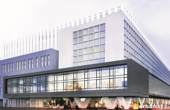 Wizualizacja Hotelu Studenckiego w Łodzi