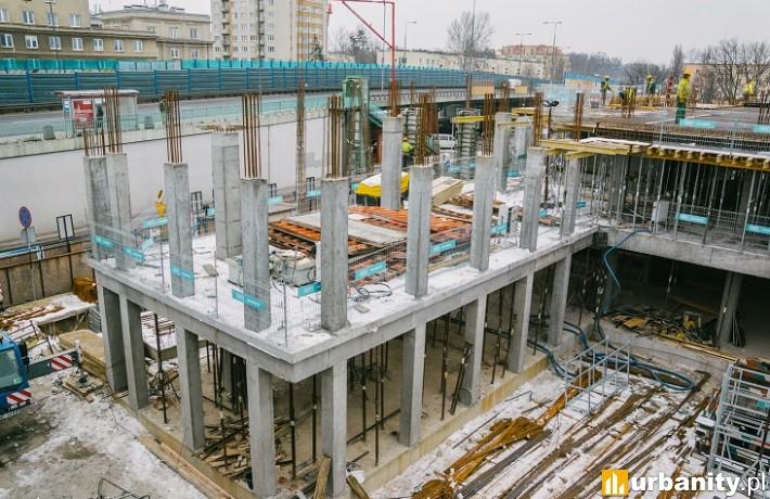Tak wygląda poziom zaawansowania prac budowlanych biurowca Vector+