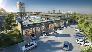 Wizualizacja centrum handlowego Atut Ruczaj w Krakowie