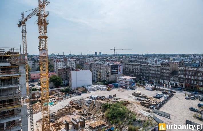 Widok z inwestycji Angel River we Wrocławiu