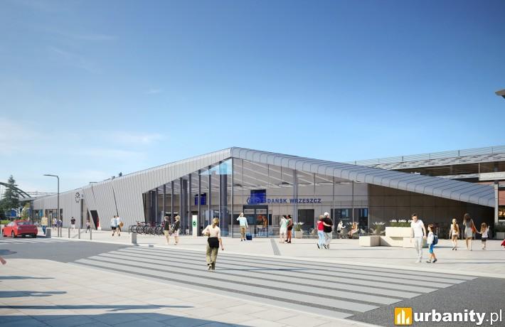 Dworzec Gdańsk Wrzeszcz - wizualizacja od strony Dmowskiego