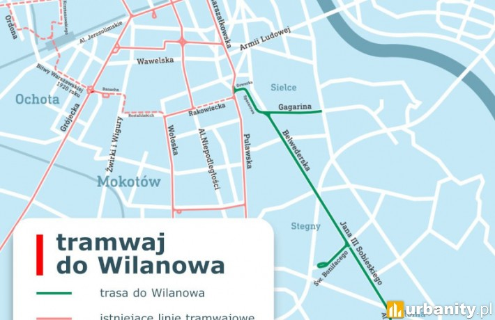 Ruszył przetarg na budowę tramwaju do Wilanowa