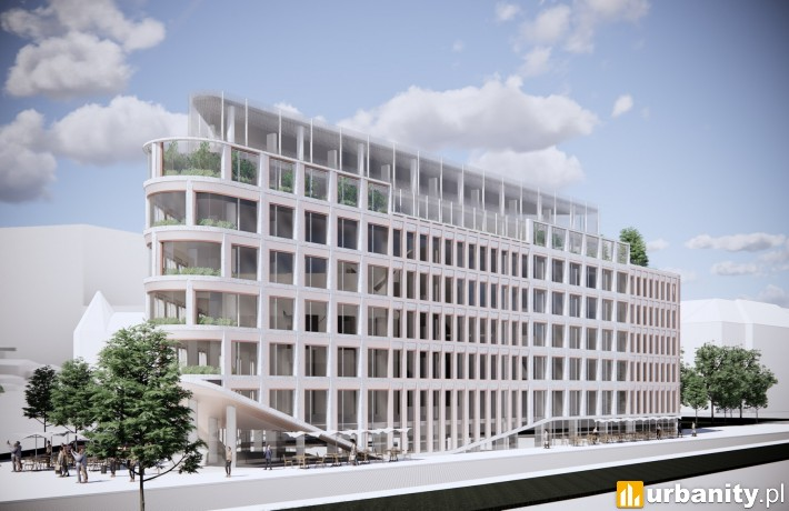 Projekt hotelu przy ulicy Zielonej 4 w Poznaniu
