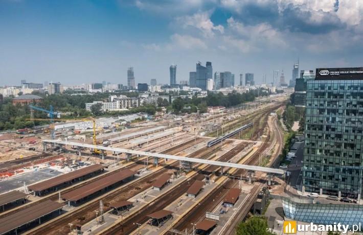Postęp prac na budowie dworca kolejowego Warszawa Zachodnia