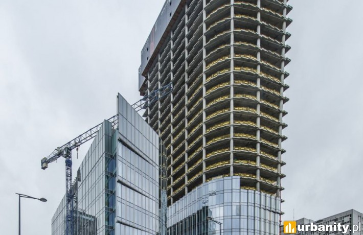 Budowa wieżowca Mennica Legacy Tower