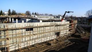Postęp prac na budowie galerii - Luty 2016 r
