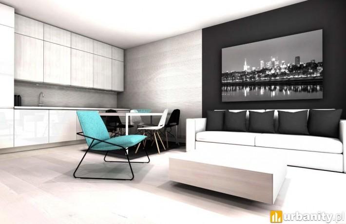 Projekt apartamentu w kompleksie Solec Residence