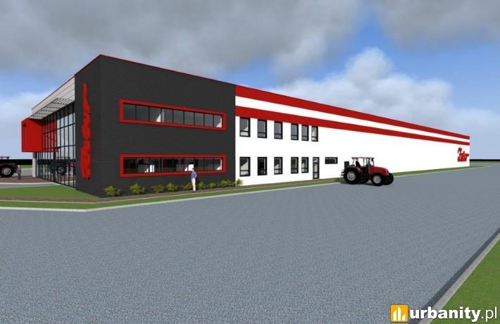 Wizualizacja nowej siedziby firmy Zetor Polska