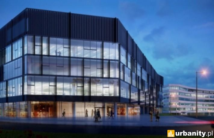 Najmniejszy budynek w krakowskim kompleksie DOT Office
