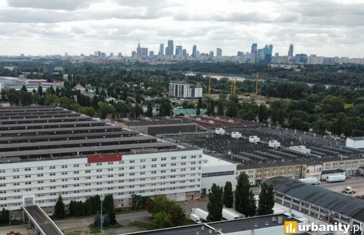 Inwestycja OKAM na terenie dawnej fabryki samochodów przy ulicy Jagiellońskiej w Warszawie