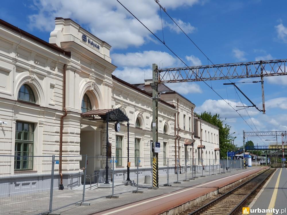 Zabytkowy dworzec w Białymstoku znowu zachwyca swoją elegancją