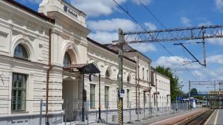 Elewacja dworca Białystok od strony peronów