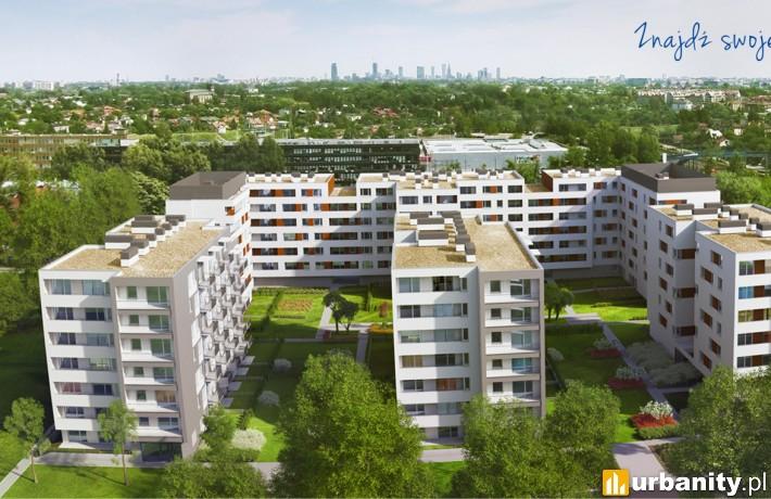 Wizualizacja osiedla Ursa - Smart City w Warszawie