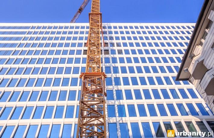 Postęp prac na budowie biurowca Atrium 2