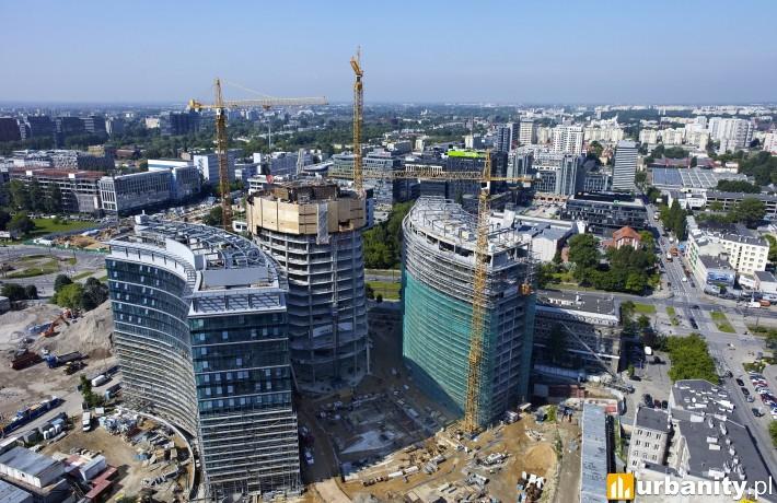 Wieżowiec Warsaw Spire w budowie