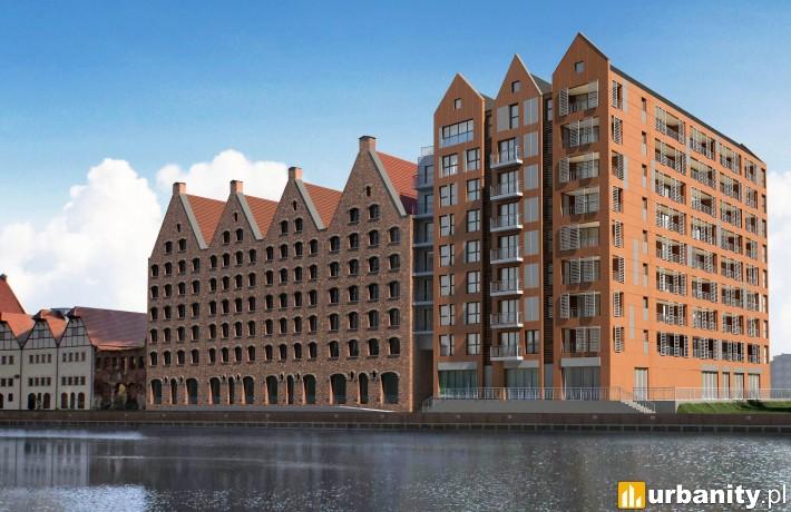 Wizualizacja budowanego w Gdańsku Waterlane Island
