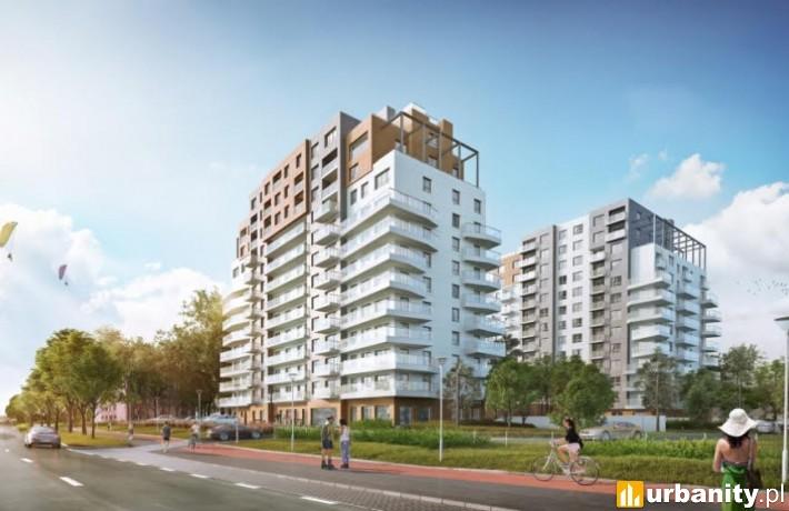 Projekt budynków Baltica Towers w Gdańsku