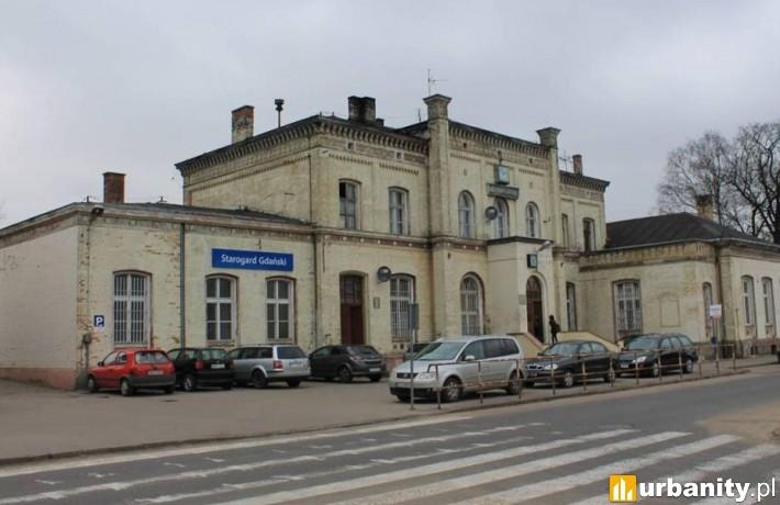 Tak obecnie wygląda zabytkowy dworzec kolejowy w Starogardzie Gdańskim