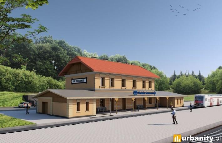 Nowy dworzec Kraków Swoszowice - wizualizacja