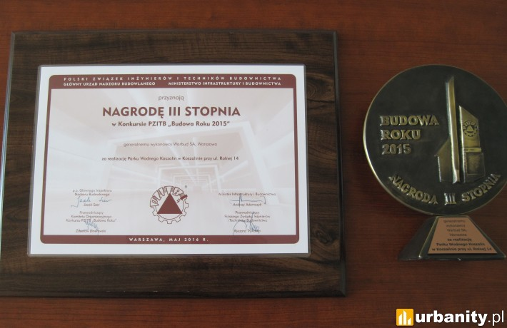 Nagroda dla Parku Wodnego Koszalin