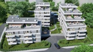 Wizualizacja inwestycji Zielony Sołacz Tarasy