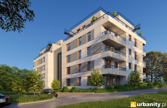 Wizualizacja budynku osiedla Foresta w Gdańsku