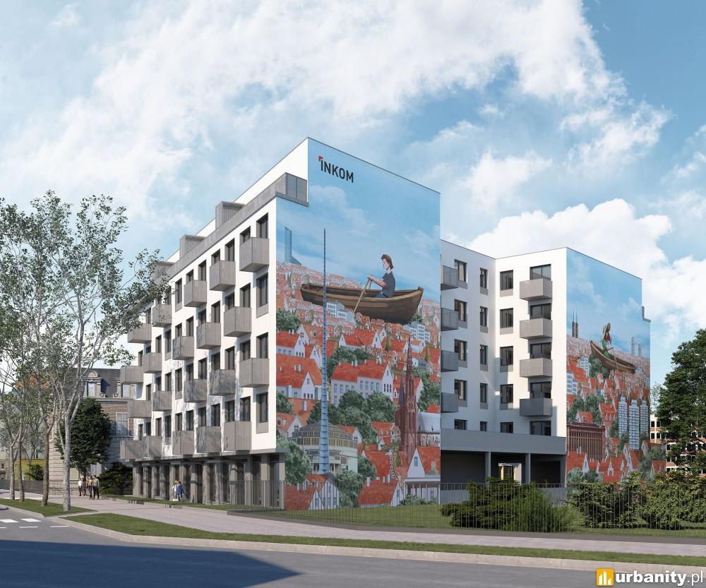Inwestycja z muralem w obrębie placu Grunwaldzkiego we Wrocławiu