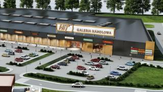 Wizualizacja obiektu handlowego HIT w Nowym Dworze Mazowieckim