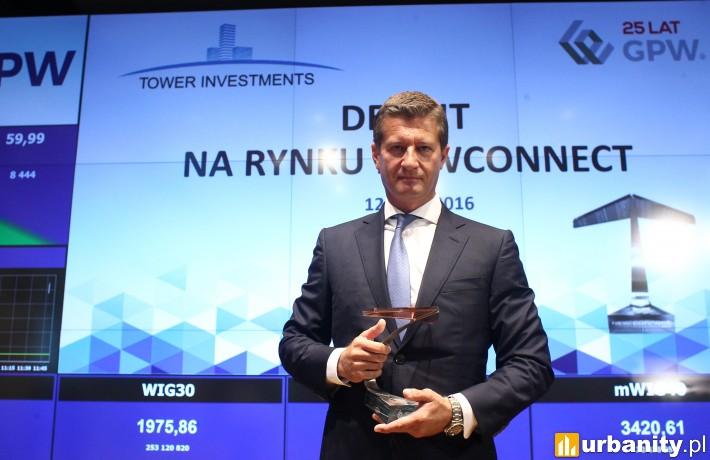 Tower Investments dołączył do grona spółek notowanych na NewConnect