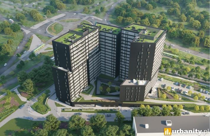 Projekt inwestycji Warta Towers w Poznaniu